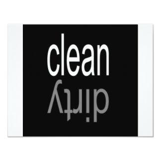 Clean/Dirty Dishwasher Magnet 11 Cm X 14 Cm Invitation Card