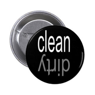 Clean/Dirty Dishwasher Magnet 6 Cm Round Badge