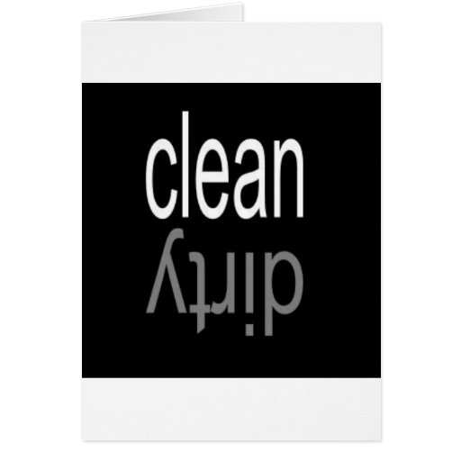 Clean/Dirty Dishwasher Magnet Card