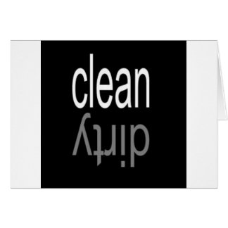 Clean/Dirty Dishwasher Magnet Greeting Card