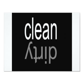 Clean/Dirty Dishwasher Magnet 4.25x5.5 Paper Invitation Card