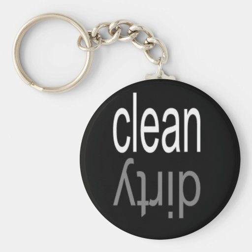 Clean/Dirty Dishwasher Magnet Keychains