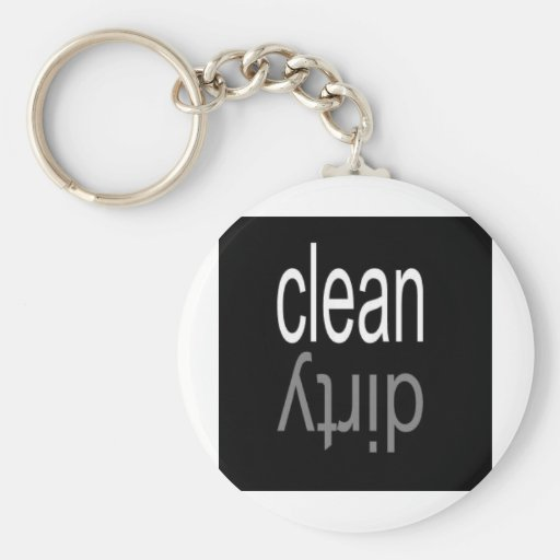 Clean/Dirty Dishwasher Magnet Key Chains