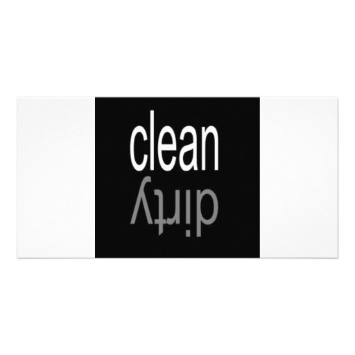Clean/Dirty Dishwasher Magnet Photo Card