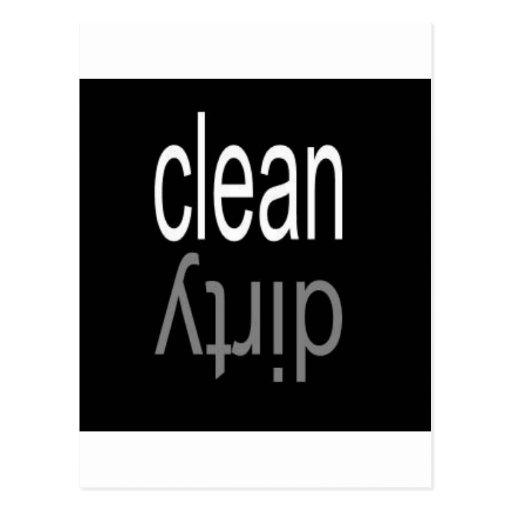 Clean/Dirty Dishwasher Magnet Postcard