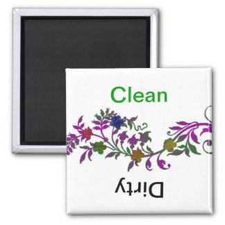 Clean/Dirty Dishwasher Square Magnet