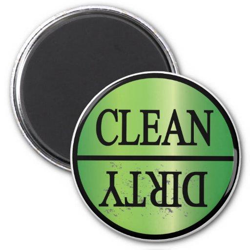 Clean Dirty green gradient Fridge Magnet