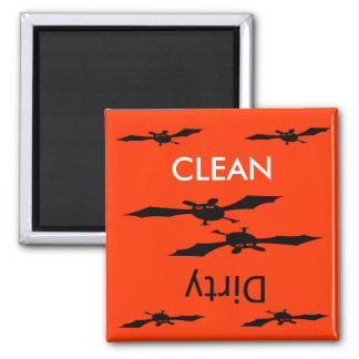 Clean dirty Halloween bat dishwasher Magnet