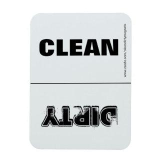 Clean Dirty (Lt. Gray & White) w/website address Rectangular Photo Magnet