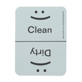 Clean Dirty Magnet - Gray - (Smile/Frown)