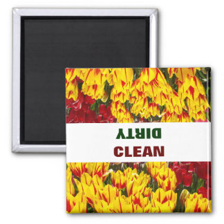CLEAN DIRTY magnets dishwasher magnet Tulips