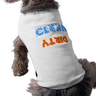 clean-dirty sleeveless dog shirt