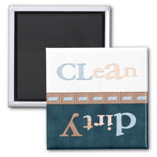 Clean-dirty Square Magnet