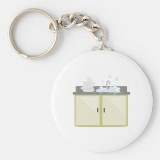 Clean Dishes Key Ring