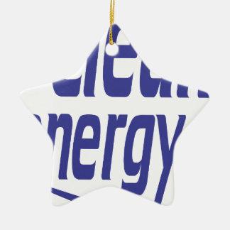 Clean energy ceramic star decoration
