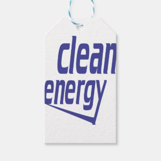 Clean energy gift tags