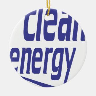 Clean energy round ceramic decoration