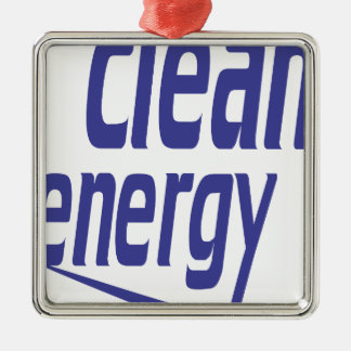 Clean energy Silver-Colored square decoration