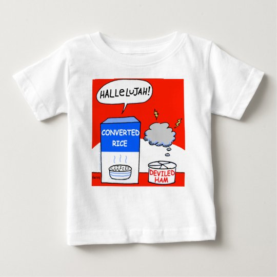 Clean Funny Evangelical Christian Cartoon Baby Baby T-Shirt