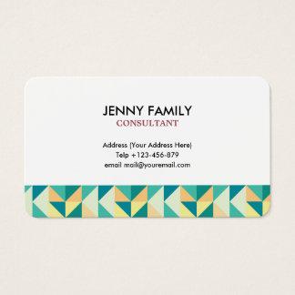 Clean Geometric Business Card
