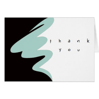 Clean graphic business sets note card