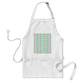 Clean Gray and Green Chevron Humps Standard Apron
