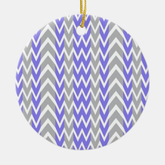 Clean Gray Chevron Humps Christmas Ornament