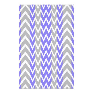 Clean Gray Chevron Humps Stationery