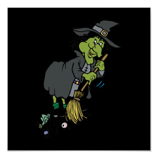 Clean Green Witch Poster