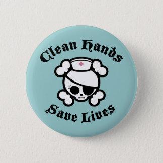 Clean Hands 6 Cm Round Badge