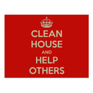 Clean House and Help Others Postcard
