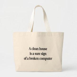 Clean House Jumbo Tote Bag