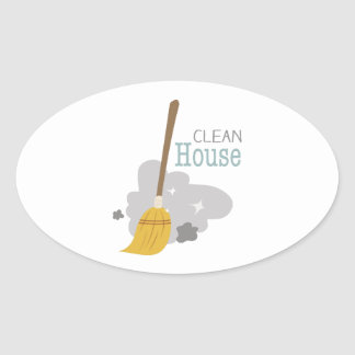 Clean House Oval Sticker