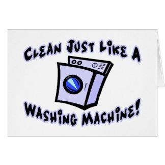 Clean Like A Washing Machine Cards