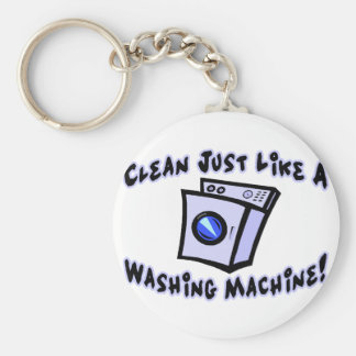 Clean Like A Washing Machine Key Ring
