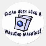 Clean Like A Washing Machine Round Sticker