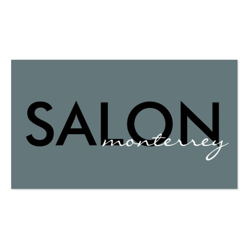 Clean, Modern Salon Business Card