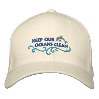 Clean Oceans Embroidered Hat