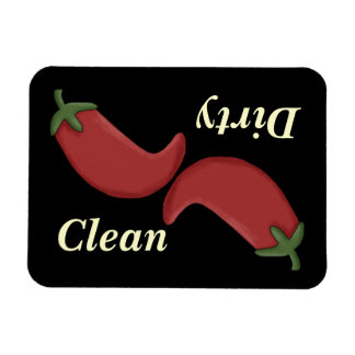 Clean or Dirty Chili Peppers Dishwasher Magnet