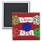 Clean or Dirty Christmas Bows Dishwasher Magnet