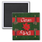 Clean or Dirty Christmas Candles Dishwasher Magnet