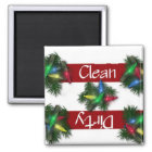Clean or Dirty Christmas Lights Dishwasher Magnet