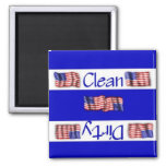 Clean or Dirty Flag Dishwasher Magnet