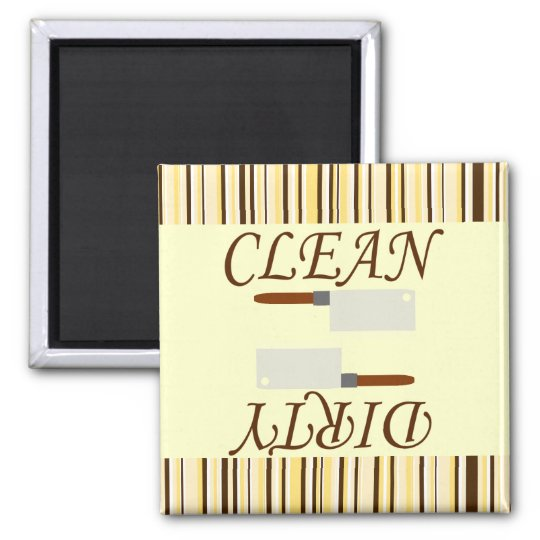 Clean or Dirty Kitchen Dishwasher Magnet