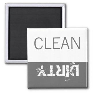 Clean or Dirty Magnets DIshwasher Label Grey