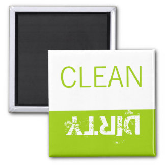 Clean or Dirty Magnets DIshwasher Labels Green