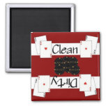 Clean or Dirty Poker Dishwasher Magnet