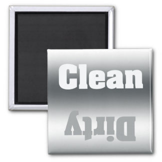 Clean or Dirty Silver Gradient Dishwasher Magnet