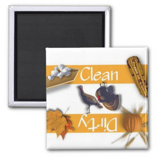 Clean or Dirty Thanksgiving Dishwasher Magnet