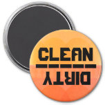 Clean or Dirty? v.2 Refrigerator Magnet
